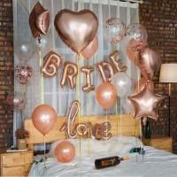 Balon Foil Set Bridal Shower Rose Gold