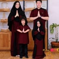 Set baju muslim keluarga/maroon,mocca,biru,family