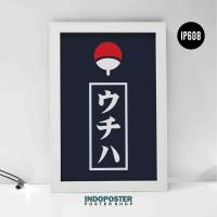 IP608 Poster Anime Hiasan Dinding Naruto Uchiha Clan Logo