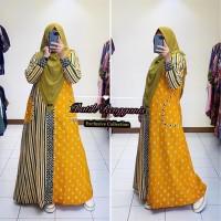 Baju Gamis Batik Jumputan Lurik Kain Katun Primisima Model Terbaru