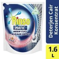 RINSO Matic Liquid Front Load Deterjen Cair [1600 mL/ Kemasan Pouch]