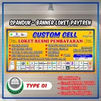 SPANDUK BANNER CUSTOM CELL   LOKET RESMI/PPOB   PAYTREN Uk. 2m x 1m