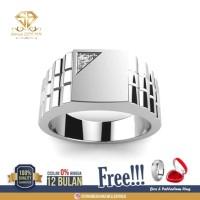SINAR BERLIAN Jewellery-Cincin emas Pria Berlian asli Eropa F VVS SB93