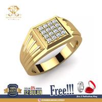 SINAR BERLIAN Jewellery-Cincin emas Pria Berlian asli Eropa F VVS SB73