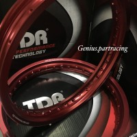 VELG RIM TDR W SHAPE UKURAN 185 & 215 RING 17 RED MATTE ORIGINAL