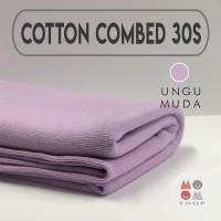 Kain Katun Cotton Combed 30s Bahan Kaos Warna UNGU MUDA meteran
