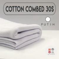 Kain Katun Cotton Combed 30s Bahan Kaos Warna PUTIH meteran