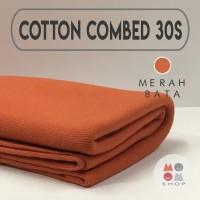 Kain Katun Cotton Combed 30s Bahan Kaos Warna MERAH BATA meteran