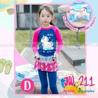Baju Renang Panjang Anak Perempuan JW 211 D Unicorn Armbands 2-7thn
