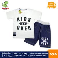 WakaKids Baju Anak Laki Laki Kids Over Jeans Usia 1-4 Tahun 3474