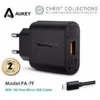 AUKEY KEPALA CHARGER TURBO 18W QUICK CHARGE 3.0 FREE KABEL MICRO