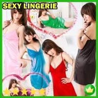 Lingerie sexy dress / lingerie baju tidur Satin Babydoll Murah - 54.81