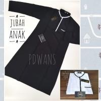 JUBAH ANAK TANGGUNG Baju Muslim Anak Jubah Gamis Putih Hitam - Putih, Size 3