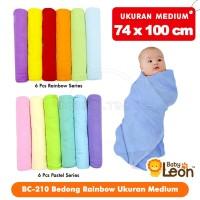 6 Pcs Kain Bedong Bayi Rainbow BABY LEON 100x74cm BC-210 kain bedong