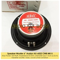 Promo !!!!!!! Speaker Woofer 6 Inch 6 In Audax Ax-6022 Cw8 Mkii Ax