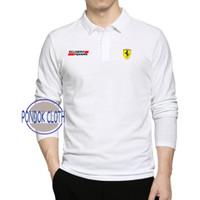 Polo shirt Kaos Kerah Lengan Panjang All Item Ferrari