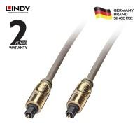 LINDY #37881 Premium Gold TosLink SPDIF Digital Optical Cable, 1m