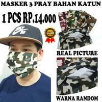 Micci Fashion Masker Kain Tali / Hijab Oxford 3 pcs - GF Multicolor