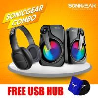 SonicGear Airphone 3 Bluetooth Headphones Combo Titan 2 Speaker System