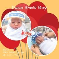 Face Shield Bayi dan anak bahan Mika Untuk Pelindung Wajah - Uk. Bayi Biru