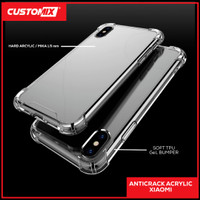Case Anti Crack Fuze / AntiCrack Akrilik Xiaomi Redmi 5+ Note 3 4 5 5A