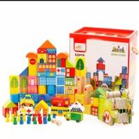 Mainan edukasi Anak balok susun kayu Transport/wooden block 62pcs