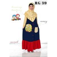 (1-12 tahun) RG 39 Tanpa Jilbab Baju Muslim Gamis Kaos Anak Raggakids