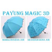 SHENAR,PAYUNG MAGIC 3D/PAYUNG LIPAT LAPISAN HITAM ANTI UV MUNCUL MOTIF