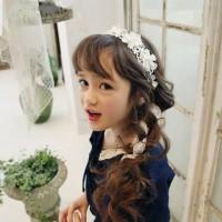 Bandana Aksen Bunga Renda Bando Bunga Lace Cantik untuk Anak