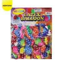 MONTANA Balon Latex Polkadot / Balon PER CARD / Papan isi 100Pcs