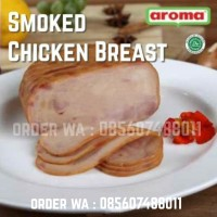AROMA Smoked Chicken Breast Whole Utuh 800gr 0.8kg Ayam Asap Halal