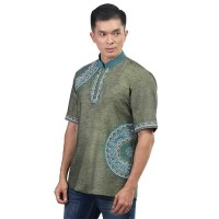 Baju Koko Pria Inficlo EXo Bahan Katun Warna Hijau (SGB 873)