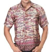 Baju Kemeja Batik Pria Inficlo EXo Bahan Silky (STR 488)