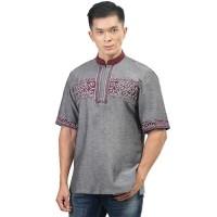 Baju Koko Pria Inficlo EXo Bahan Katun Warna Abu Bahan Katun (SGB 120)