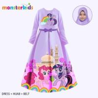 Gamis Little Pony Anak Perempuan 5 - 9 Tahun Baju Busana Muslim KM-28B