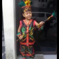 Dayak TK Wanita   Baju Adat Kostum Anak Karnaval Parade Pawai Pentas