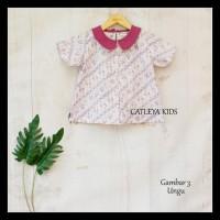 Baju Atasan Batik Anak Perempuan Candy Blouse - Merah Muda, sz L
