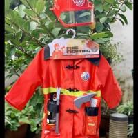 FREE ONGKIR Mainan Anak Kostum Profesi Fireman Baju pemadam kebakaran