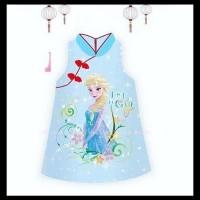 SALE DRESS CHEONGSAM ELSA FROZEN. baju anak perempuan qipao impor