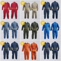 Wearpack / katelpak / coverall seragam bengkel / mekanik / baju kerja