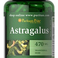 Puritan's Pride Astragalus 470 mg-100 Capsules