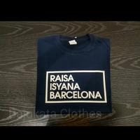 Raisa Isyana Barca Cotton Combed 30's KAOS BAJU ATASAN PREMIUM MURAH