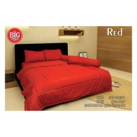 Set Bedcover + Sprei POLOS 180x200 Tinggi 30 Warna RED - Merah merk
