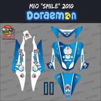 Sticker striping motor stiker Yamaha Mio Smile Doraemon Spec B