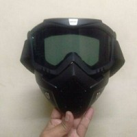 Goggle Helm Masker Set Paintball Airsoftgun Trail Cross