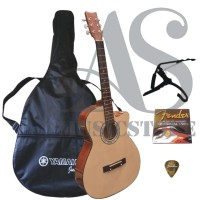 FULLSET Gitar Akustik Yamaha Natural Untuk Pemula
