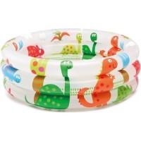 mainan anak INTEX Kolam Renang Anak Intex Dinosaur 3 Ring Baby Pool