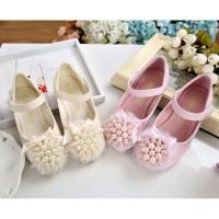 Sepatu anak sz 23-28 sepatu pesta anak perempuan flat shoes mutiara