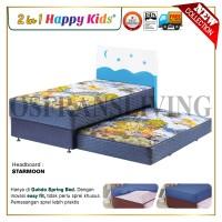 Guhdo Happy Kids 2 in 1 Springbed 120 X 200 - Fullset Star Moon Style