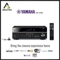 Promo Yamaha RX-V385 / rxv385 5.1-Channel 4K Ultra HD AV Receiver